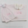 Kit presente bebê com naninha manta personalizada e pantufinha