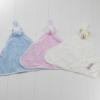 Naninhas atoalhadas azul bege e rosa