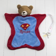 Naninha personalizada super heroi para dar de presente a mamae no cha de bebe ou maternidade