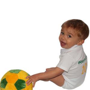 Body Bebê Personalizado Copa do Mundo