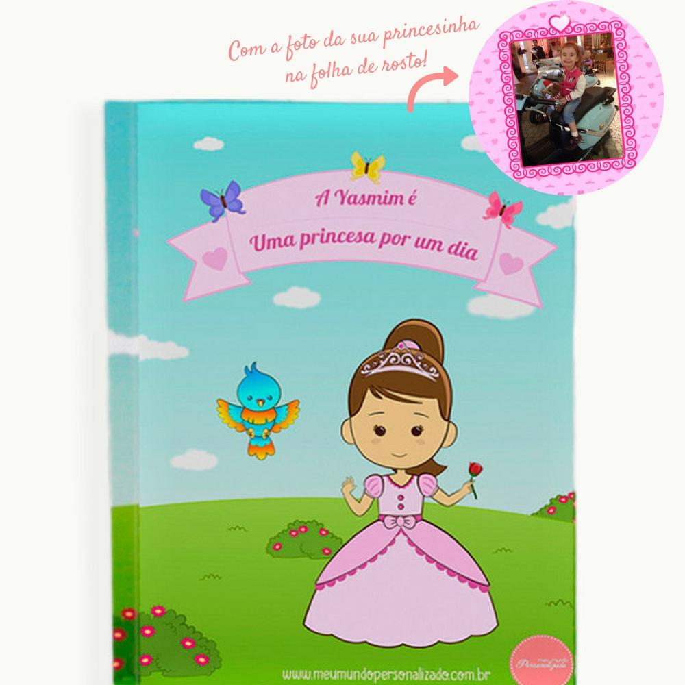 Capa livro infantil personalizado princesas