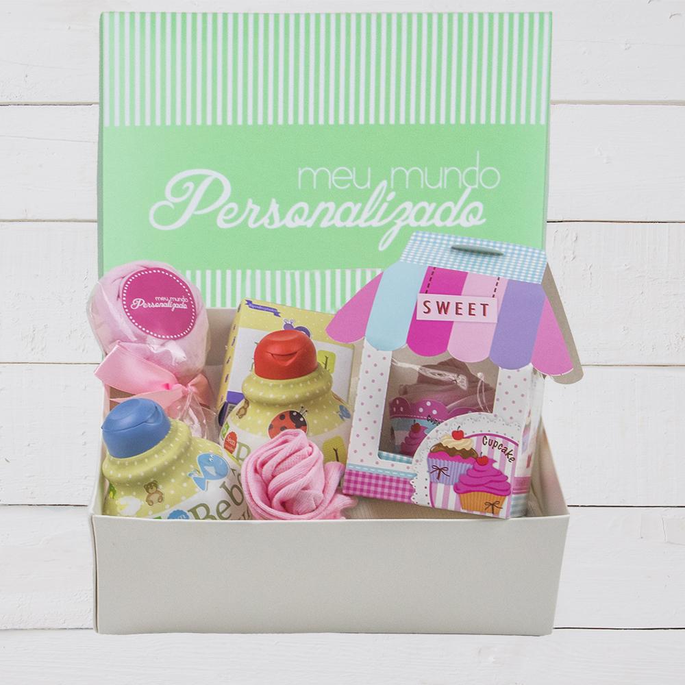 Kit presente para bebe na primeira visita à maternidade