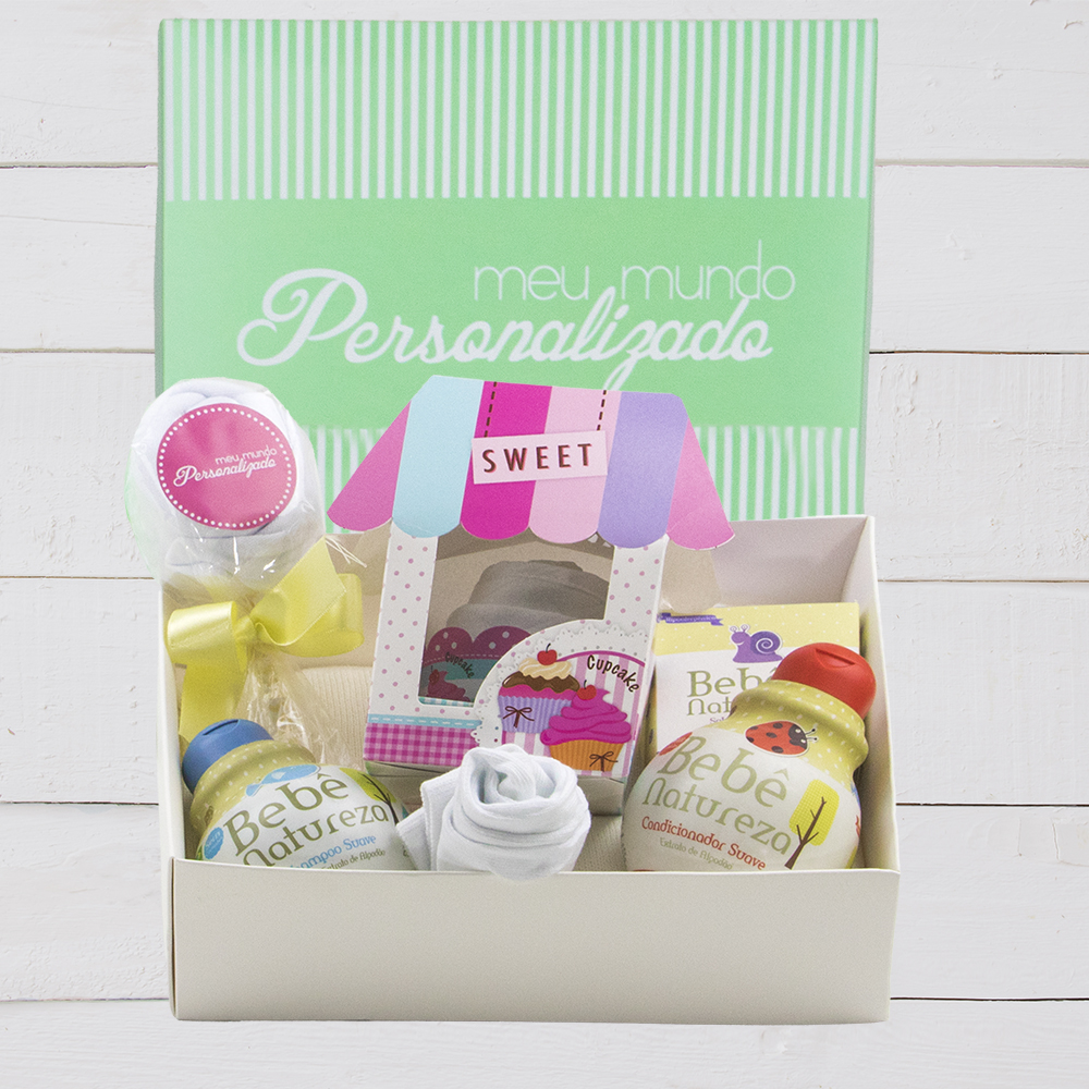 Kit presente para recém-nascido. Presente unissex. Bebê menino ou menina