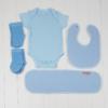Roupinhas exoval bebe para bebe que compoe o kit ou cesta bebe para recem-nascidos. Babador personalizado com nome do bebe