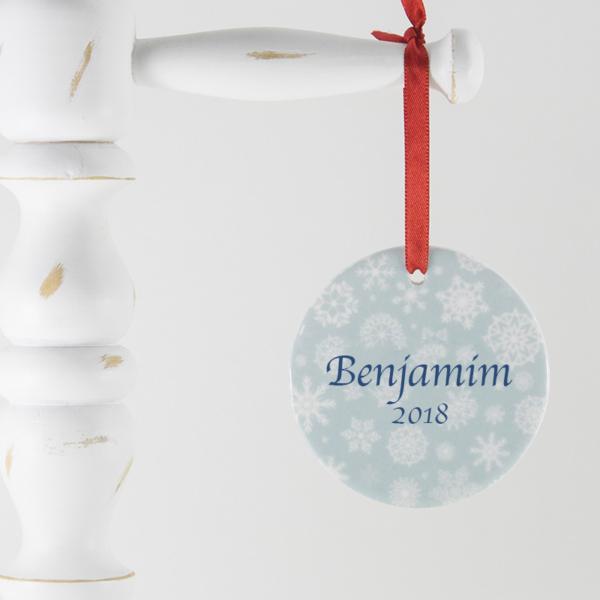 Enfeite para arvore de Natal personalizado – Flocos de neve – 2018