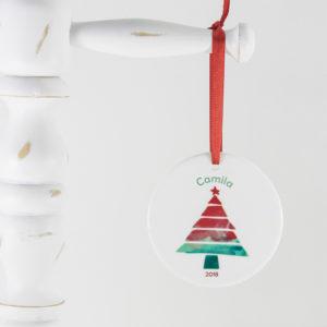 Enfeite de Natal personalizado tema árvore de natal moderna
