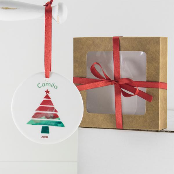 Presente barato criativo e original para presentear nova mae ou pai bebe ou crinaca no Natal. Personalize a arvore de Natal