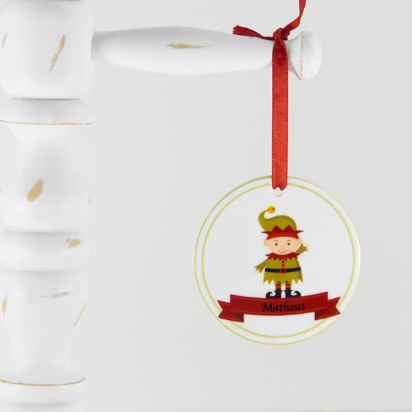 Enfeite para arvore de Natal personalizado – duende dando tchau