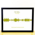 Quadro Onda Sonora – Moldura Preta – Impressao amarela – Pink Floyd – The Wall