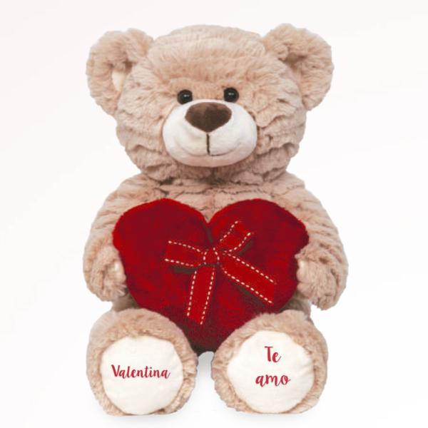 Urso Pelucia Personalizado com Coracao