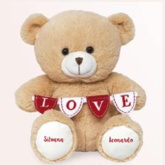 Ursinho de pelucia romatico personalizado com o texto desejado