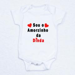 Body personalizado com a frase eu sou da Dinda. Presente original e barato