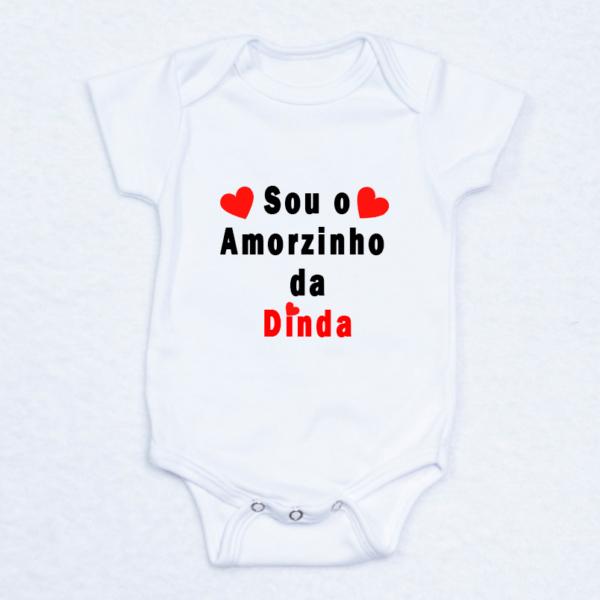 Body bebe recem-nascido – Eu Sou o Amorzinho da Dinda