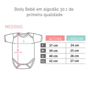 bory personalizado tabela de medidas