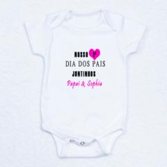 body bebe personalizado primeiro dia dos pais
