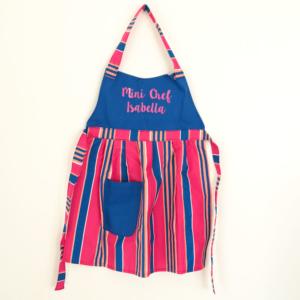 Avental para crianca personalizado. Presente para meninas que gostam de cozinhar