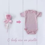 Body bebê com pirulito – rosa