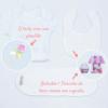 Itns que compõe a cesta presente para recém nascido meninas branca e rosa
