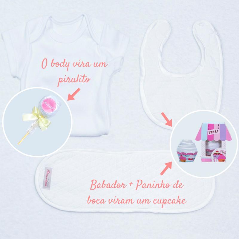 Body babador toalhinha de boca brancos para cestas meninas
