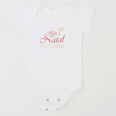 Body bebe personalizado Meu Primeiro Natal para recem nascido