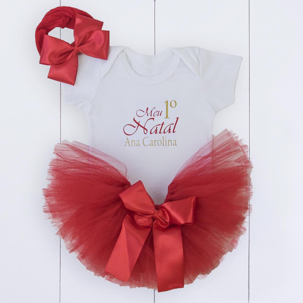 roupa de Natal para bebê menina