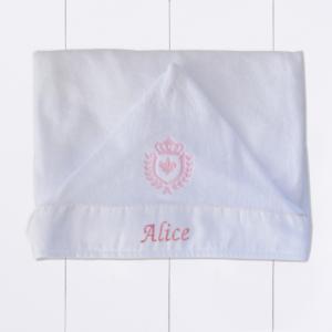 presente para bebê menina - toalha personalizada com capuz