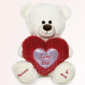 Urso de pelucia eu te amo branco