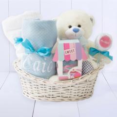 Cesta maternidade para bebe. Presente para recém-nascido menino
