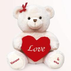 Urso de pelucia para namorada com coracao