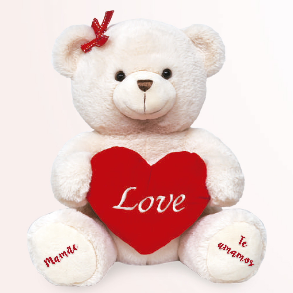 Ursinha coracao love – Mamae te amamos
