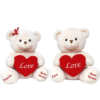 Ursinhos com coração para dar de presente para um casal