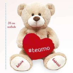Urso de pelucia para a namorada com hashtag