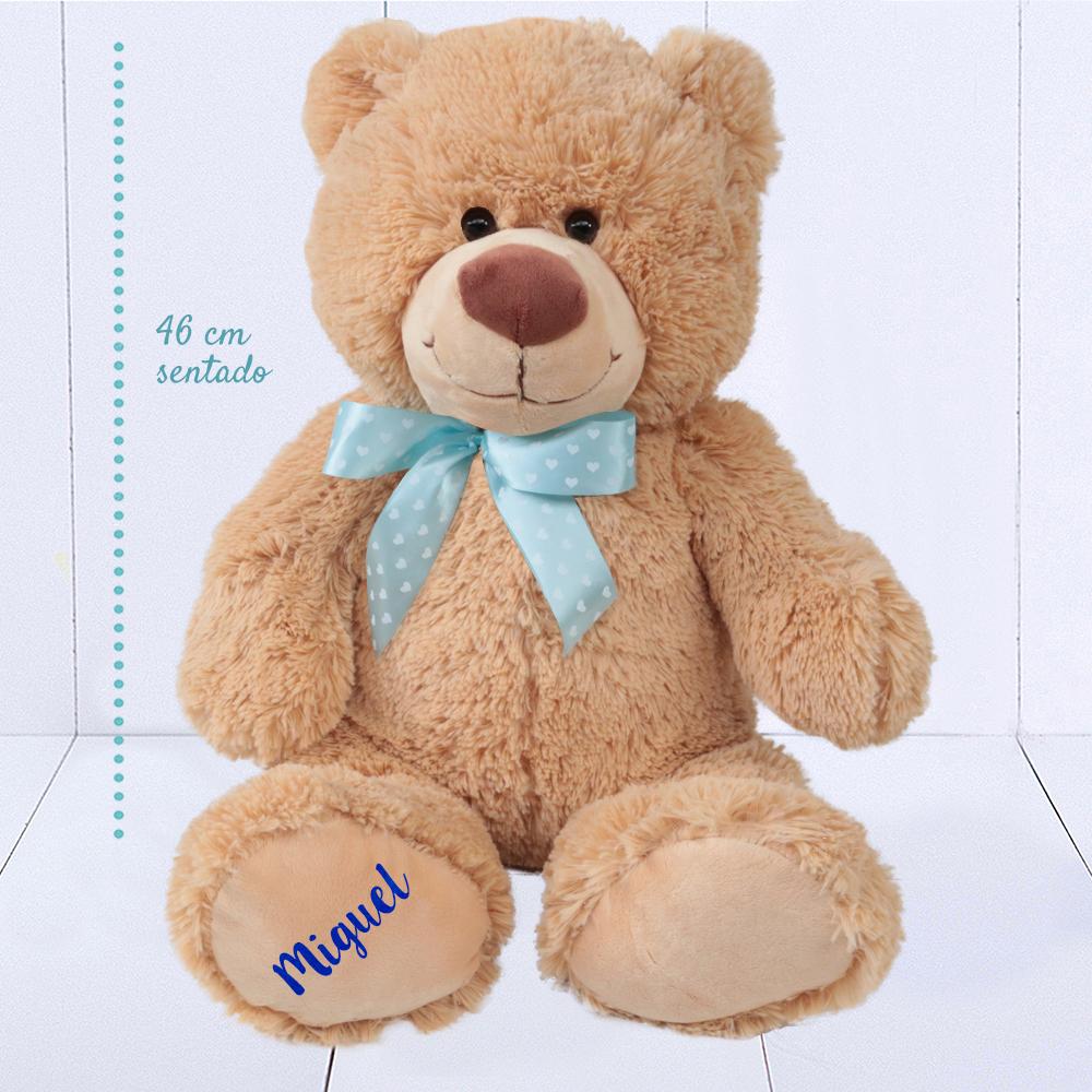 Presente para bebê menino - ursinho de pelúcia grande personalizado