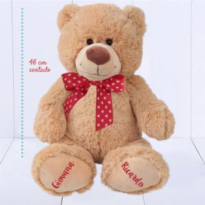 Presente criativo para homem - urso de pelúcia grande com patinhas personalizadas