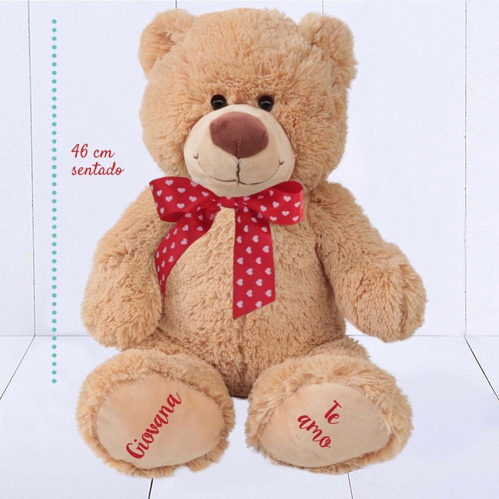 Presente para namorada - urso de pelúcia grande personalizado
