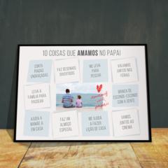 Presente para o dia dos pais criativo e personalizado com foto