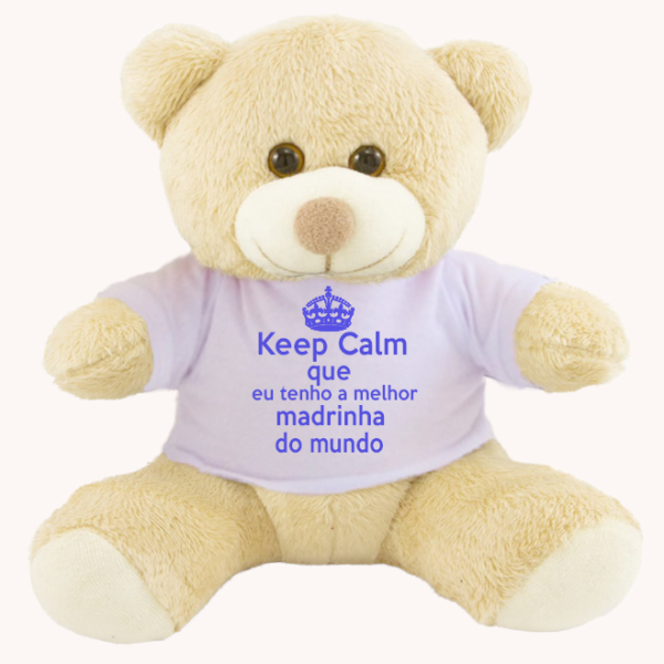 Ursinho Keep Calm madrinha dinda meninos