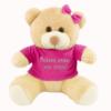 Urso de pelúcia para namorada com a frase personaliada