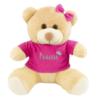 Urso de pelúcia personalizada com nome. Presente para bebê de 6 meses
