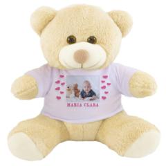 Ursinho de pelucia com foto. Presente para bebe de 1 ano barato.