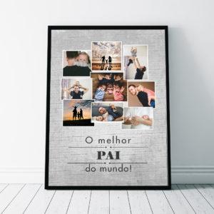 Quadro presente criativo para homem melhor pai marido chefe do mundo com 9 fotos
