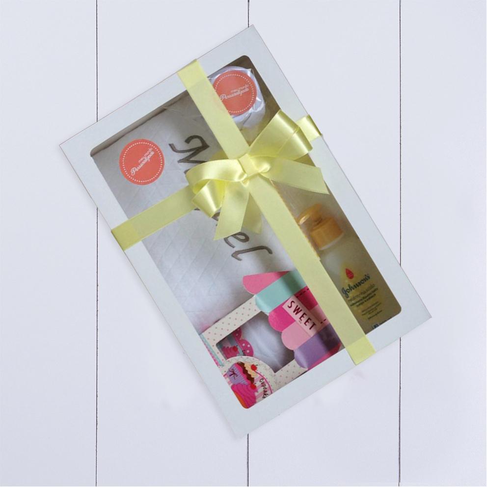 Kit presente para bebê com manta personalizada para bebê menino ou menina