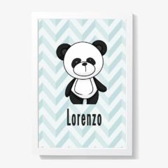 Quadro decoração para quarto de bebê do urso panda