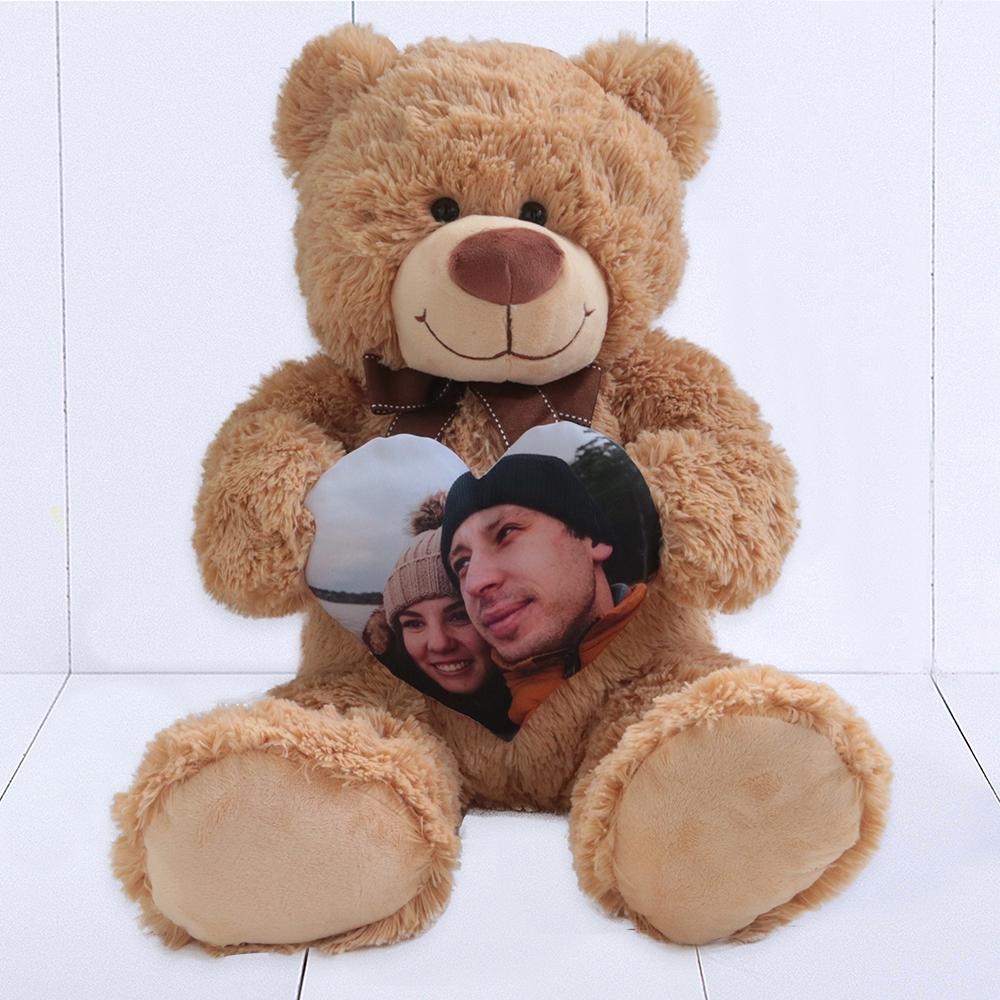 Urso Grande (Ursinho feliz) – Coracao personalizado com foto