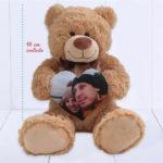 Urso Grande (Ursinho feliz) – Coracao personalizado com foto – com regua medida