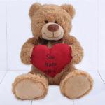 Urso Grande (Ursinho feliz) – Coracao personalizado texto