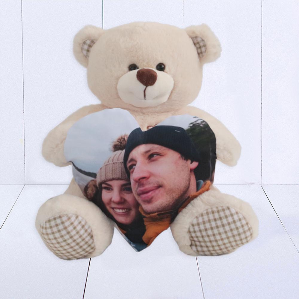 Urso Pata Xadrex – Coracao Personalizado Foto