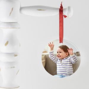 Presente criativo de natal com foto para bebê