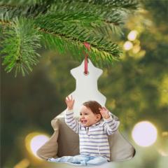 Presente para bebê de 6 meses no Natal. Pinheirinho de Natal com foto