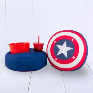 Presente criativo para crianças adultos namorado kit pipoca escudo capitão américa